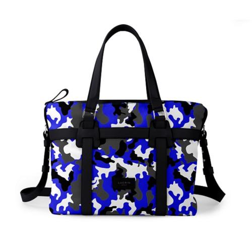 Shopper bag - Royal Blue-Black - Camouflage