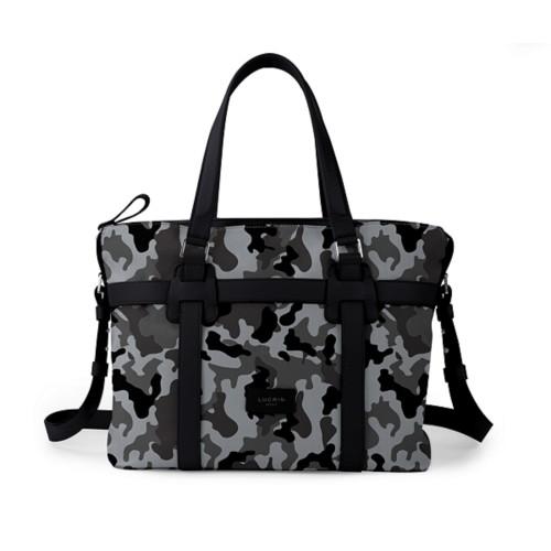 Shopper bag - Mouse Grey-Black - Camouflage