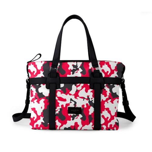 Shopper bag - Red-Black - Camouflage