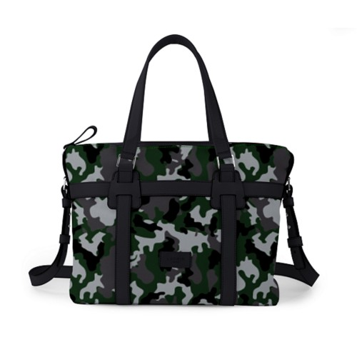 ショッピングバッグ - Light Green-Black - Camouflage