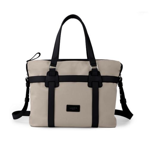Shopper bag - Beige-Black - Canvas