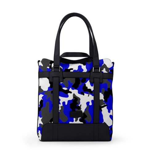Tote bag - Royal Blue-Black - Camouflage
