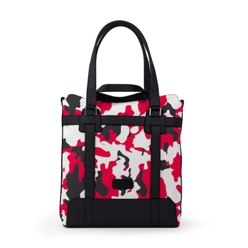 Tote bag - Red-Black - Camouflage