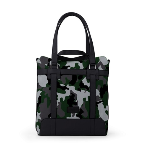 Tote bag - Light Green-Black - Camouflage