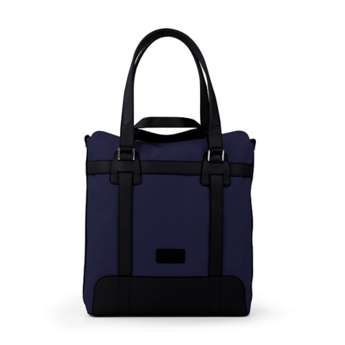 Sac tote - Bleu Marine-Noir - Toile Coton