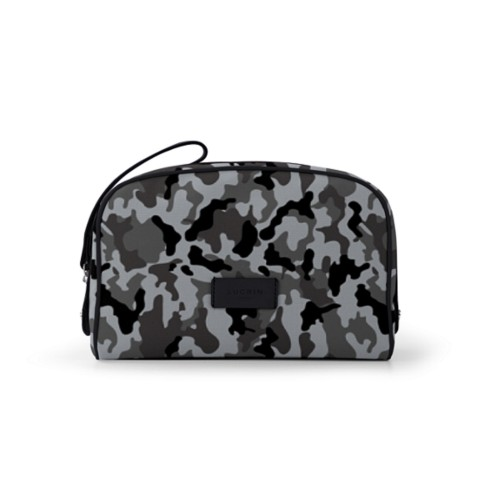 Cosmetic bag (10 x 7.3 x 3.5 inches) - Mouse Grey-Black - Camouflage