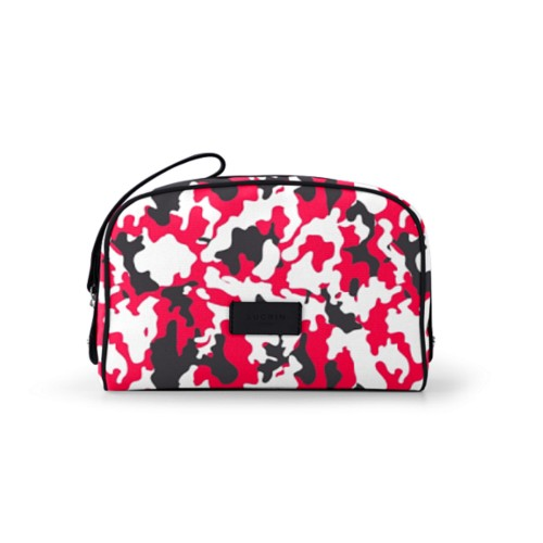 Cosmetic bag (10 x 7.3 x 3.5 inches) - Red-Black - Camouflage
