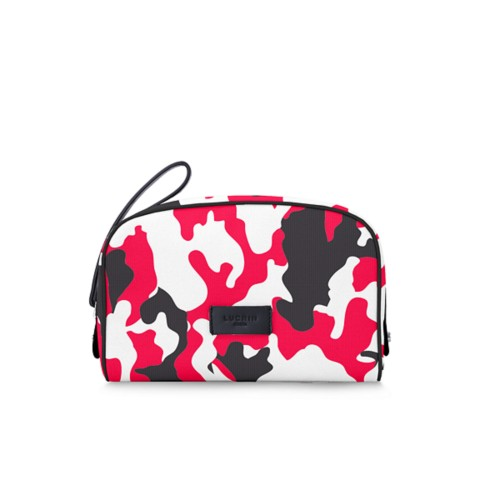 Cosmetic bag - Red - Camouflage
