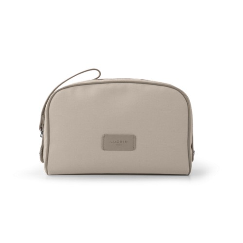 Cosmetic bag - Beige-Light Taupe - Canvas