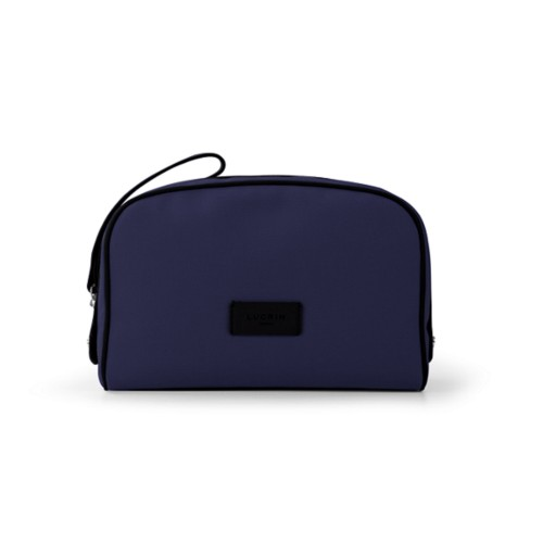 Cosmetic bag - Navy Blue-Black - Canvas
