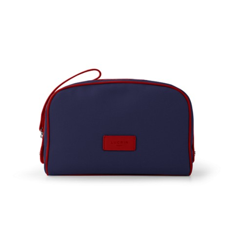 Cosmetic bag - Navy Blue-Red - Canvas