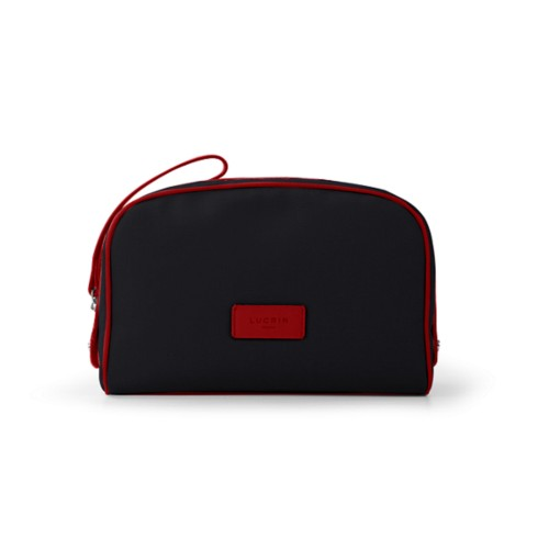 Cosmetic bag - Black-Red - Canvas