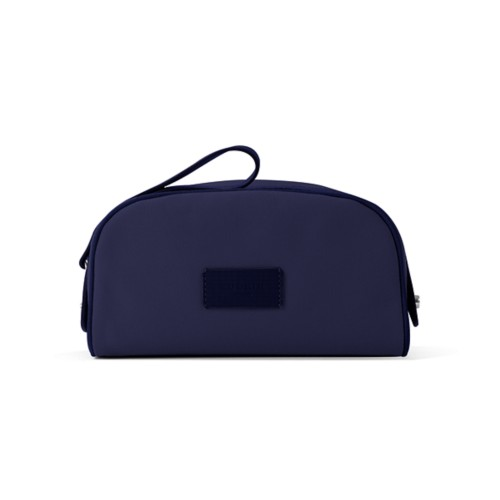 Toiletry Makeup Bag (8.9 x 5.5 x 4.5 inches) - Navy Blue - Canvas