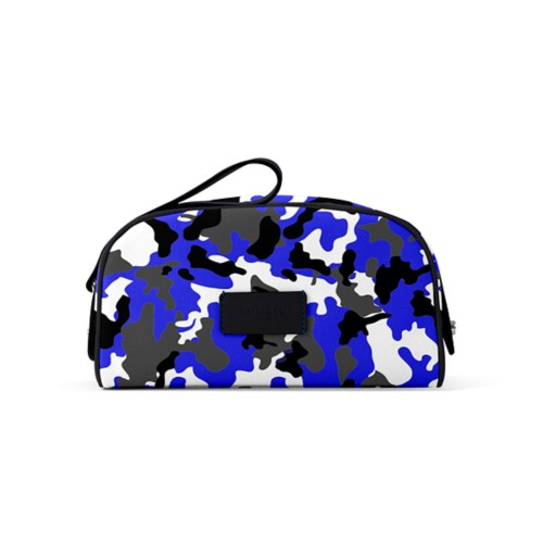Half-moon dopp kit (22.5 x 14 x 11.5 cm) - Royal Blue-Black - Camouflage