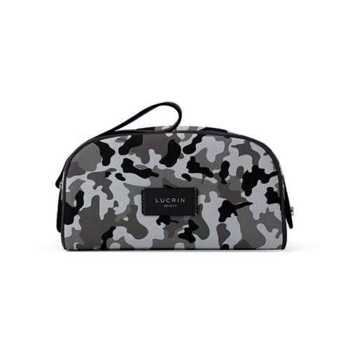 Trousse de toilette demi-lune (22,5 x 14 x 11,5 cm) - Gris Souris-Noir - Camouflage