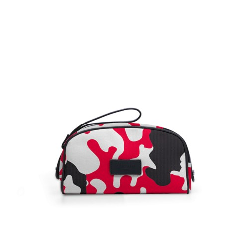 Half-moon dopp kit - Red - Camouflage