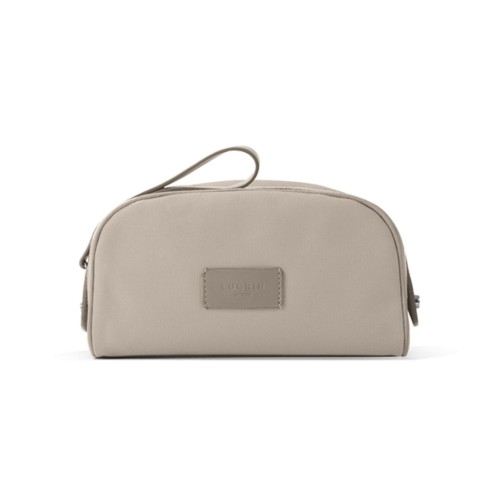 Half-moon dopp kit - Beige-Light Taupe - Canvas