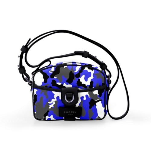Petit sac bandoulière - Bleu Roi-Noir - Camouflage