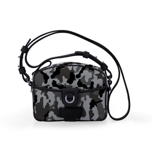 Petit sac bandoulière - Gris Souris-Noir - Camouflage