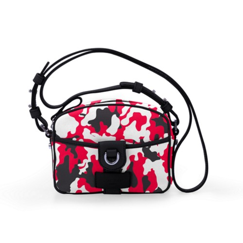Crossbody purse - Red-Black - Camouflage