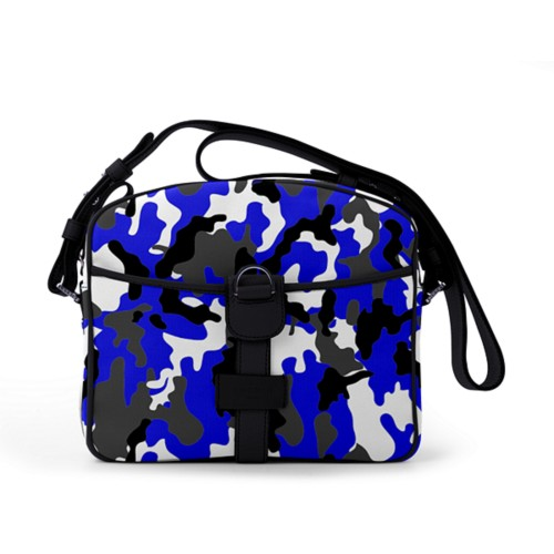 Small Messenger Bag - Royal Blue-Black - Camouflage
