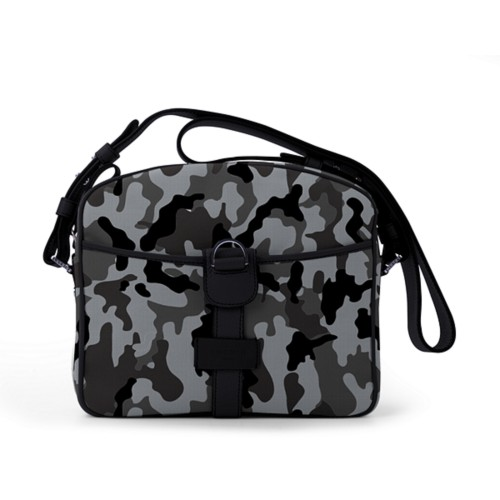 Small Messenger Bag - Mouse Grey-Black - Camouflage