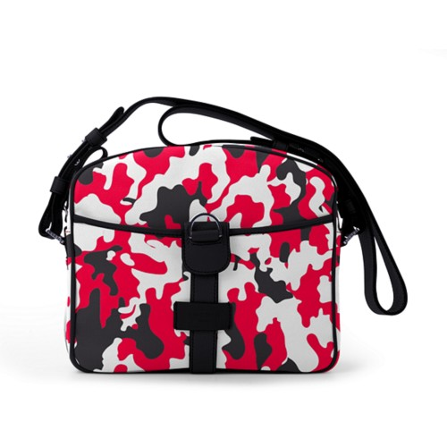 Small Messenger Bag - Red-Black - Camouflage
