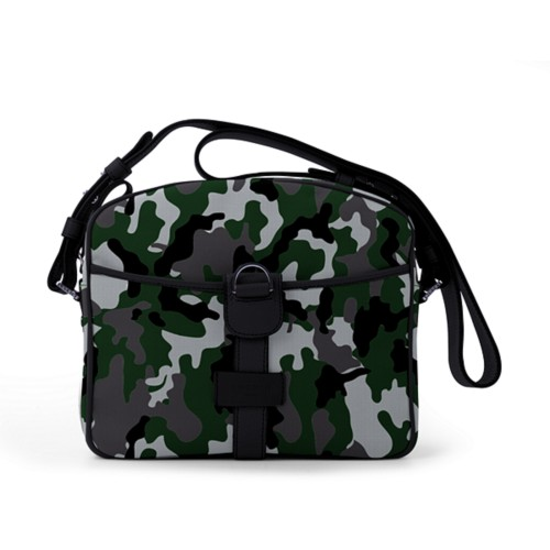 Small Messenger Bag - Light Green-Black - Camouflage