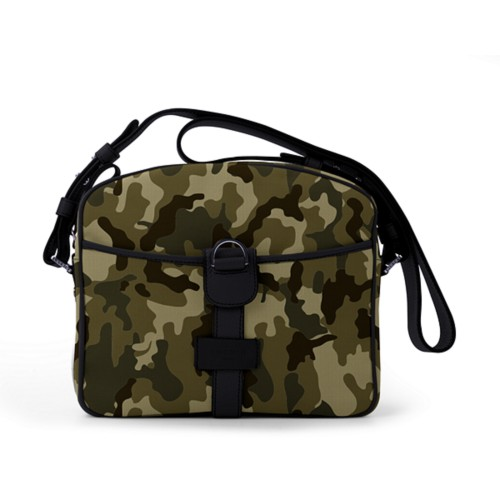 Small Messenger Bag - Dark Green-Black - Camouflage