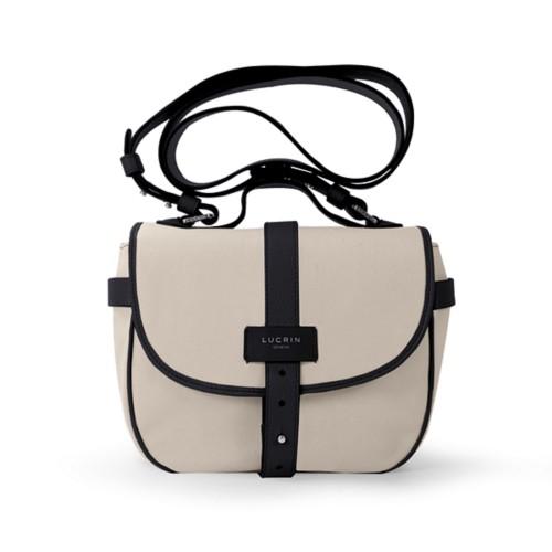 Side bag - Beige-Black - Canvas