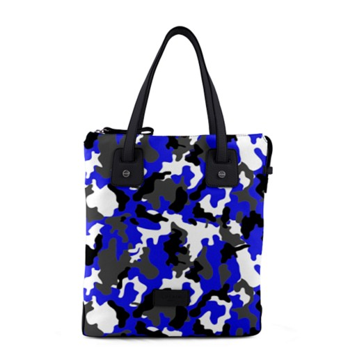 Tote canvas bag - Royal Blue-Black - Camouflage
