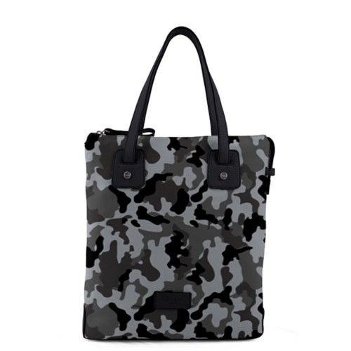Tote canvas bag - Mouse Grey-Black - Camouflage