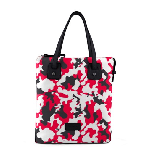 Tote bag canvas - Red-Black - Camouflage