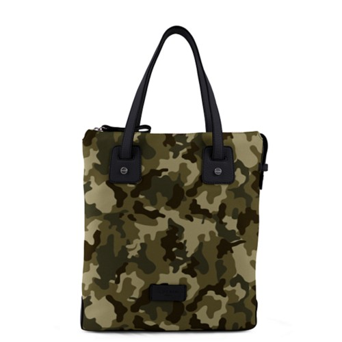 Tote canvas bag - Dark Green-Black - Camouflage