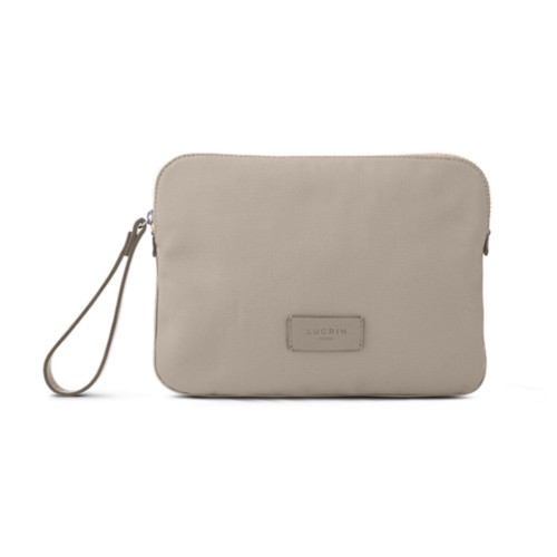 Canvas Clutch Bag - Beige-Light Taupe - Canvas
