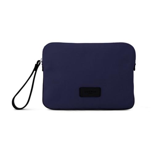 Canvas Clutch Bag - Navy Blue-Black - Canvas