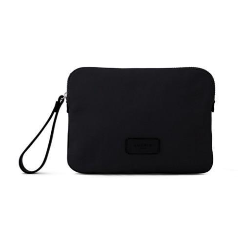 Canvas Clutch Bag - Black-Black - Canvas