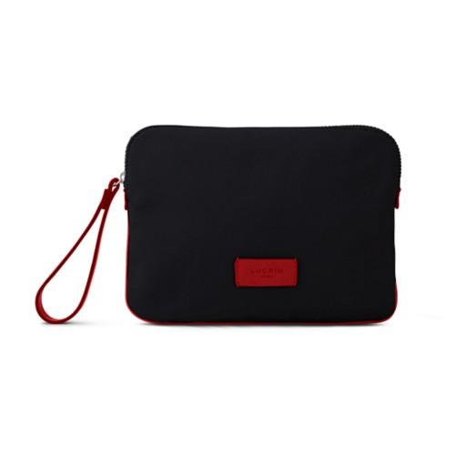 Canvas Clutch Bag - Black-Red - Canvas