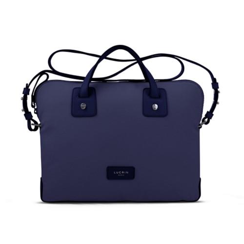 Canvas Satchel Briefcase (13 inches) - Navy Blue - Canvas