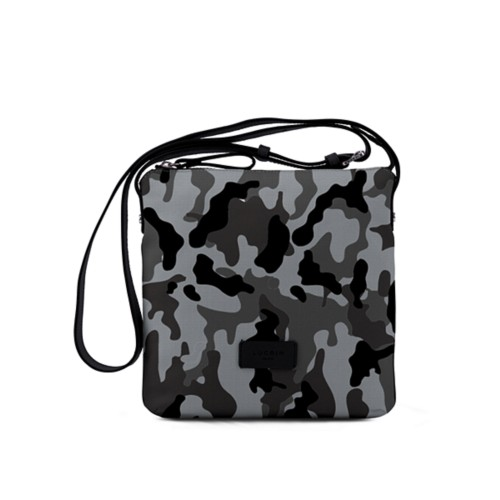Small Canvas Messenger Bag - Mouse Grey-Black - Camouflage