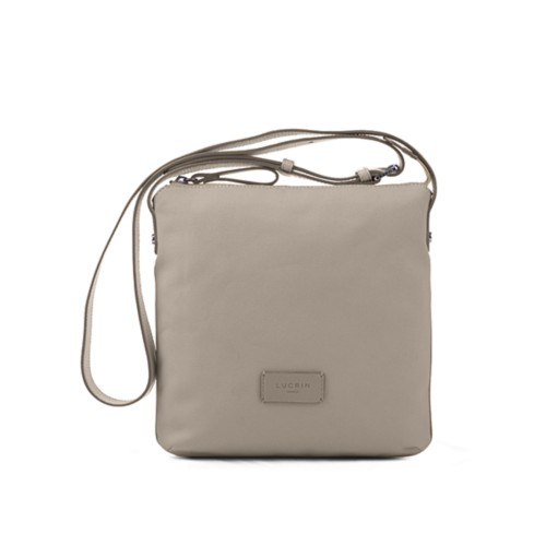 Small Canvas Messenger Bag - Beige-Light Taupe - Canvas