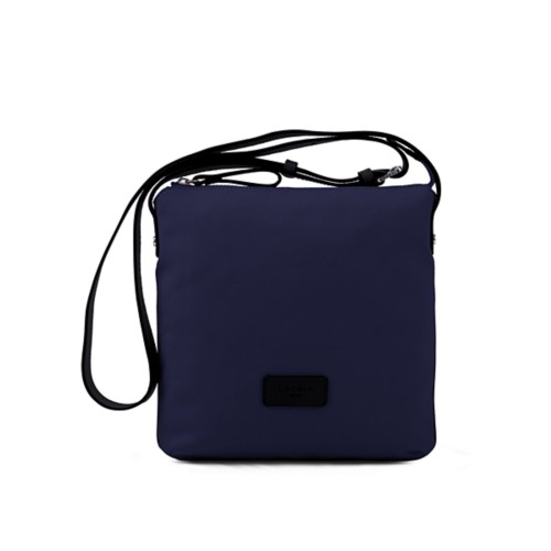 Small Canvas Messenger Bag - Navy Blue-Black - Canvas