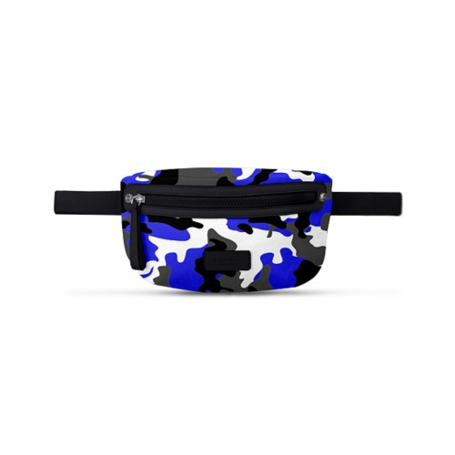 Canvas Fanny Pack - Royal Blue-Black - Camouflage