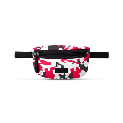 Canvas Fanny Pack - Red-Black - Camouflage