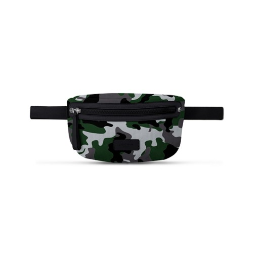 Canvas Fanny Pack - Light Green-Black - Camouflage