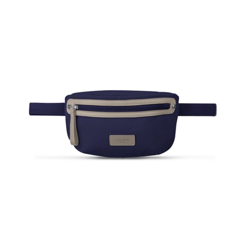 Canvas Fanny Pack - Navy Blue-Light Taupe - Canvas