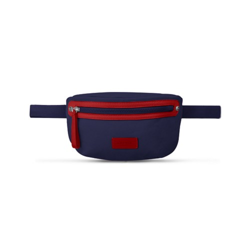 Canvas Fanny Pack - Navy Blue-Red - Canvas