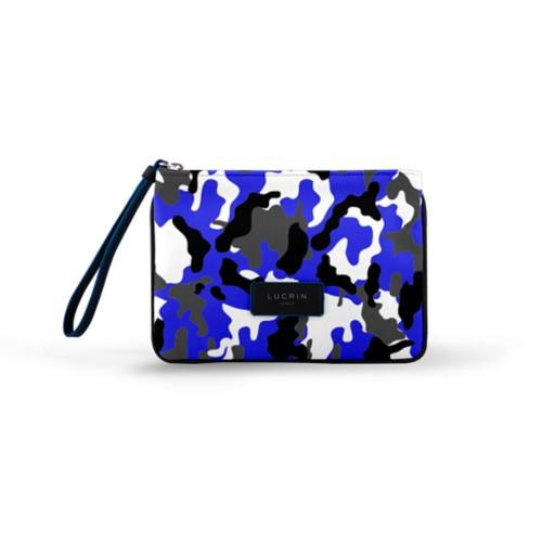 Evening Clutch Canvas Bag - L - Royal Blue-Black - Camouflage