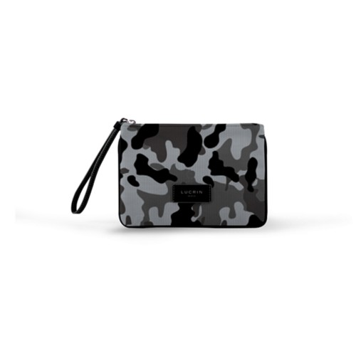 Evening Clutch Canvas Bag - M - Mouse Grey-Black - Camouflage
