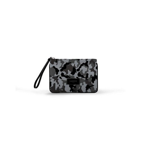 Evening Clutch Canvas Bag - S - Mouse Grey-Black - Camouflage